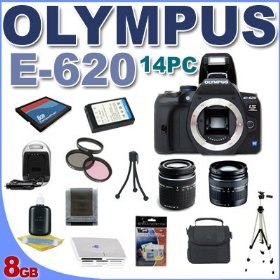 Olympus Evolt E620 12.3MP Digital SLR Camera - 2.7