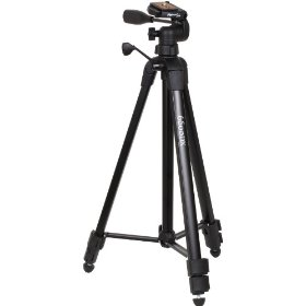 PlatinumPlus by Sunpak 6600DX Heavy Duty Tripod for Still and Video Cameras in Professional Black Supports Up to 6.6 lb and Extends Up to 65.3 Inches
