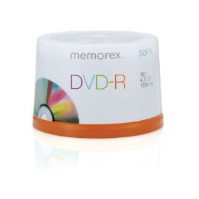 Memorex 4.7Gb/16x DVD-R (50-Pack Spindle)