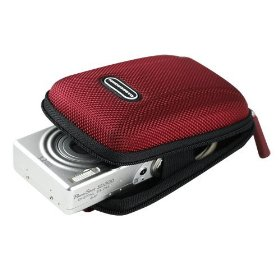 Panasonic Lumix DMC-FH20 Carrying CaseCrown Compact Travel Case (Crimson)