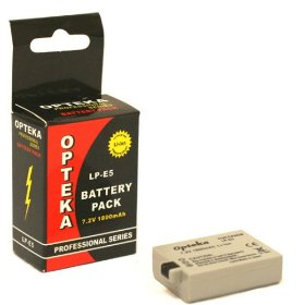 Opteka LP-E5 1800mAh Ultra High Capacity Li-ion Battery Pack for Canon Digital Rebel XS, XSi, & T1i Digital SLR Camera