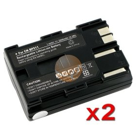 2 PACK 2000mAh Battery for Canon BP-511A BP-511 BP511 [Camera]