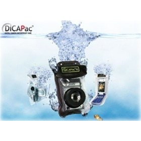 DicaPac WP410 160x105mm Small Zoom Alfa Waterproof Digital Camera Case with Optical Lens (Clear)