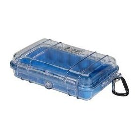 Pelican 1040-026-100 Micro Case with Clear Lid and Carabineer (Blue)