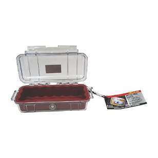 Pelican 1040-025-100 Micro Case with Clear Lid and Carabineer (Black)