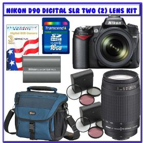 Nikon D90 Digital SLR Camera with 18-105mm AF-S DX VR Nikkor Lens w/ 3pc Photo Essentials Filter Kit + Nikon 70-300mm Lens w/ 3pc Photo Essentials