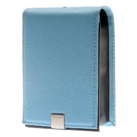 Canon PSC-1000 Deluxe Semi-Hard Leather Case for PowerShot SD-1000, SD-1100, SD-1200, SD-1300, SD-770, SD-780 and SD-960 - Light Blue