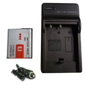 US Charger+NP-BG1/NPBG1 Li-ion Battery for Sony G Type