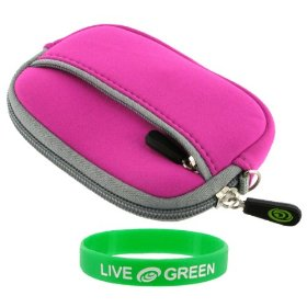 Neoprene Sleeve Case (Magenta) for Sony DSC-W310 12.1MP Digital Camera Pink