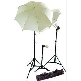 CowboyStudio New Photo Photography Video Studio Umbrella Continuous Lighting Light Kit Set- 2 7ft Stands, 1 Mini Stand and Carry Case