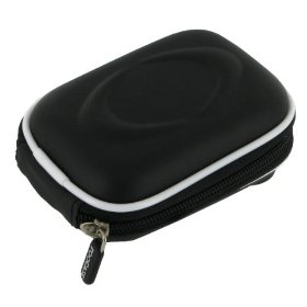 EVA Hard Shell Carrying Case (Black) with Memory Foam for Canon PowerShot SD1400IS 14.1 MP Digital Camera Black