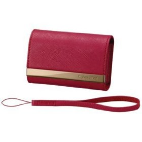 Sony LCS-CSVA/R DSC Leather Carrying Case (Red)