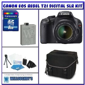 Canon Rebel T2i 18.0 MP Digital SLR w/ Canon 18-55mm IS Lens + Shooter Package K# 3