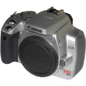 Canon Digital Rebel XTi 10.1MP Digital SLR Camera (Silver Body Only)