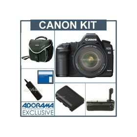 Canon EOS-5D Mark II Digital SLR Camera / Lens Kit with EF 24-105L Image Stabilized Lens, - with 8GB CF Memory Card, Spare Canon LP-E6 Battery, Slinger Camera Bag, Flashpoint Professional Battery Grip, Adorama Digital Remote Release
