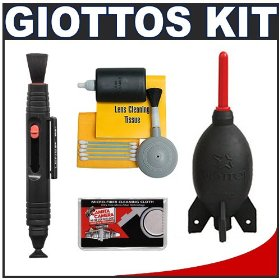 Giottos Rocket-Air Blower Professional AA1900 Large + Lenspen Lens Pen Cleaning System + Accessory Kit for Canon, Nikon, Olympus, Pentax and Sony Digital SLR Cameras