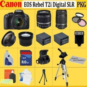 Canon EOS Rebel T2i SLR Digital Camera Kit with Canon 18-55mm IS Lens + Canon 55-250mm IS Lens