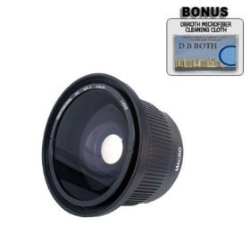 .42x HD Super Wide Angle Panoramic Macro Fisheye Lens For The Nikon D5000, D3000 Digital SLR Cameras Which Have Any Of These (18-55mm, 55-200mm, 50mm) Nikon Lenses