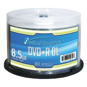Optical Quantum DVD+R DL Double Layer Logo Top Spindle - 50 pack