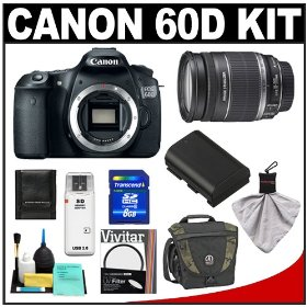 Canon EOS 60D Digital SLR Camera Body with 18-200mm IS Lens + 8GB Card + Tamrac Case + Accessory Kit