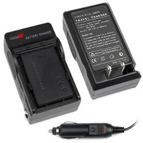 Premium Battery Charger with Car Charger Adapter for Olympus LI-50B Digital Camera & Camcorder