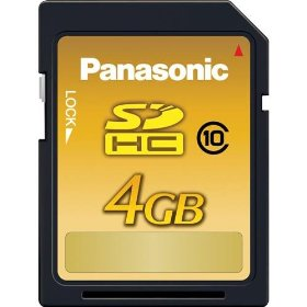 Panasonic 4 GB High Speed 22MB/s SDHC Class 10 Memory Card RP-SDW04GU1K