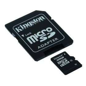 Kingston - Flash memory card ( microSDHC to SD adapter included ) - 32 GB - Class 4 - microSDHC