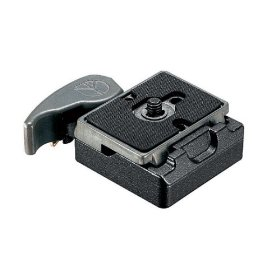 Manfrotto 323 RC2 Rapid Connect Adapter with 200PL-14 Quick Release Plate - Replaces 3299 (Black)