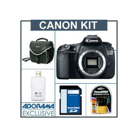 Canon EOS 60D Digital SLR Camera Body Kit, Black - U.S.A. Warranty - with 8GB SD Memory Card, Slinger Camera Bag, Spare LP E6 Lithium-Ion Rehargeable Battery, USB 2.0 SD Card Reader