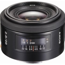 Sony SAL-28F28 28mm f/2.8 Wide Angle Lens for Sony Alpha Digital SLR Camera