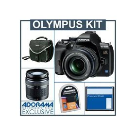 Olympus E-600 Digital SLR Camera, with 14mm - 42mm f3.5-5.6 & ED 40 -150mm f4.0-5.6 Zuiko Digital Zoom Lenses - Refurbished By Olympus U.S.A 8 GB CF Memory Card - Spare BLs-1 Lithium-Ion Rechargeable Battery - Slinger Camera Bag