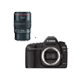 Canon EOS-5D Mark II Digital SLR Camera Body with EF 100mm f/2.8L Macro IS USM