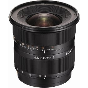 Sony DT 11-18mm f/4.5-5.6 Aspherical ED Super Wide Angle Zoom Lens for Sony Alpha Digital SLR Camera
