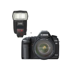 Canon EOS-5D Mark II Digital SLR Camera Body Kit with EF 24-105L IS & Speedlite 580EX II