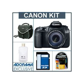 Canon EOS 60D Digital SLR Camera / Lens Kit, Black with EF 18-135mm f/3.5-5.6 IS USM Lens - U.S.A. Warranty - 8GB SD Memory Card, Slinger Camera Bag, Spare LP E6 Lithium-Ion Rehargeable Battery. USB 2.0 SD Card Reader