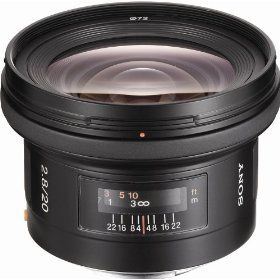 Sony SAL-20F28 20mm f/2.8 Wide Angle Lens for Sony Alpha Digital SLR Camera