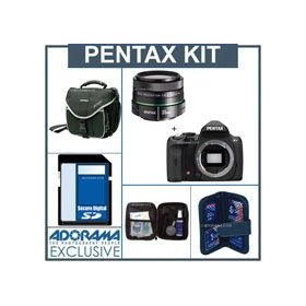 Pentax K-r Digital SLR Camera Kit, Black, with SMCP-DA 35mm f/2.4 AL Lens, 4GB SD Memory Card, Camera Bag, Professional Lens Cleaning Kit, Digital Memory Case