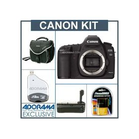 Canon EOS-5D Mark II Digital SLR Camera Body Kit,- USA Warranty - with Spare LP-E6 Type Battery, Slinger Camera Bag, Flashpoint Professional Battery Grip, USB Memory Card Reader & Writer for CompactFlash Cards
