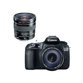 Canon EOS 60D Digital SLR Camera / Lens Kit, With EF 18-135mm f/3.5-5.6 IS USM Lens & with EF 20mm f/2.8 USM AutoFocus Ultra Wide Angle Lens