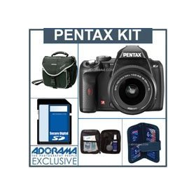 Pentax K-r Digital SLR Camera Black Kit, with DA L 18-55 Zoom Lens, - 4GB SD Memory Card, Camera Bag, Professional Lens Cleaning Kit, Digital Memory Case