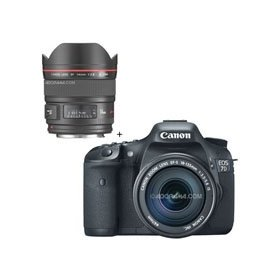 Canon EOS-7D Digital SLR Camera / Lens Kit, with Canon EF-S 18-135mm f/3.5-5.6 IS Auto Focus Lens, and EF 14mm f/2.8L II USM Wide Angle Lens