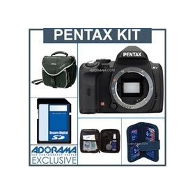 Pentax K-r Digital SLR Camera Body Only Kit - Black - 4GB SD Memory Card, Camera Bag, Professional Lens Cleaning Kit, Digital Memory Case