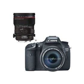 Canon EOS-7D Digital SLR Camera / Lens Kit, with Canon EF-S 18-135mm f/3.5-5.6 IS Auto Focus Lens, and TS-E 24mm f/3.5L II Tilt-Shift Lens