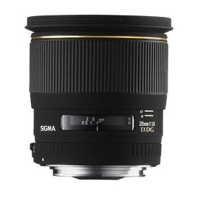 Sigma 28mm f/1.8 EX DG Aspherical Macro Large Aperture Wide Angle Lens for Pentax and Samsung SLR Cameras