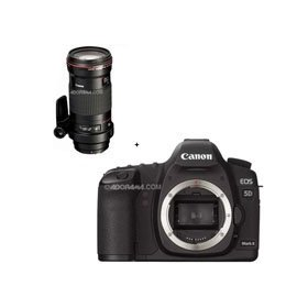 Canon EOS-5D Mark II Digital SLR Camera Body with EF 180mm f/3.5L Macro USM AutoFocus Telephoto Lens