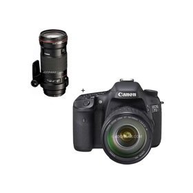 Canon EOS-7D Digital SLR Camera / Lens Kit with EF 28-135mm f/3.5-5.6 IS USM Standard Zoom Lens and EF 180mm f/3.5L Macro USM AutoFocus Telephoto Lens