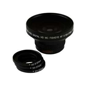 Bower VLB1637B 0.16X Super Fisheye Professional Lens for 27mm 30mm 30.5mm 37mm Black
