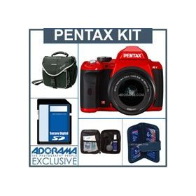 Pentax K-r Digital SLR Camera Red Kit, with DA L 18-55 Zoom Lens, - 4GB SD Memory Card, Camera Bag, Professional Lens Cleaning Kit, Digital Memory Case