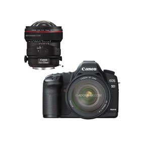 Canon EOS-5D Mark II Digital SLR Camera Body Kit with EF 24-105L IS & TS-E 17mm f/4L Tilt-Shift Manual Focusing Lens