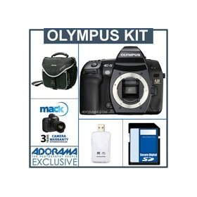 Olympus Evolt E-5 12.3 Megapixel Digital SLR Camera Body Kit, with 8GB SD Memory Card, Camera System Bag, Mack 3 Year Extended Warranty, USB 2.0 SD Card Reader